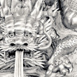 Stock Photo: Chinese dragon carve