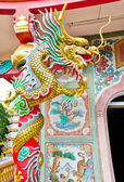 Chinese style dragon statue — Stock Photo