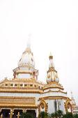 Biała pagoda w wat phra mahathat chedi chaimongkol, tajlandia — Zdjęcie stockowe