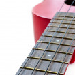 Part of red ukulele — Stock Photo