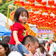 Unidentified child, age about 5 years old, celebrates Chinese Ne — Stock Photo