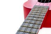 Part of red ukulele — Stock Photo