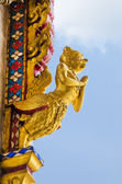 Golden garuda statue — Stock Photo