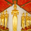 Stock Photo: Standing golden Buddha statues