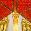 Standing golden Buddha statues — Stock Photo #33487645