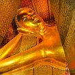 Reclining golden Buddha, Wat Pho, Bangkok, Thailand — Stock Photo