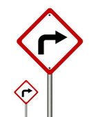 Turn right traffic sign — Stock Photo