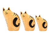 Wooden cats — Stock Photo