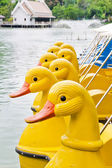 Duck look-alike boat — Stock Photo