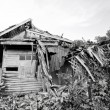 Old house collapsing from time. — Stock Photo