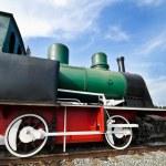 Restored steam train locomotive — Stock Photo