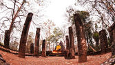 Buddha statue in Sukhothai Historical Park — Stock Photo