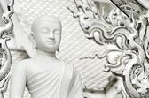 Bílá otáčela meditace — Stock fotografie