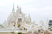 Wat Rong Khun, Chiang Rai province, northern Thailand in the ear — Photo
