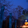 Stock Photo: Buddhstatue in Sukhothai Historical Park (light painting techn