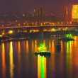 Stock Photo: Bangkok city scape at nighttime