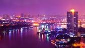 Bangkok city scape at nighttime — Stock Photo