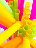 Colourful drinking straws — Stock Photo