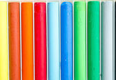 Colorful pastel, crayons — Stock Photo