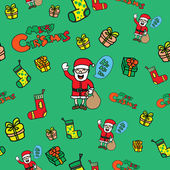 Seamless Christmas doodle icons — Vettoriale Stock