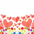 Paper heart and colorful plastic buttons with copy space   — Stock Photo