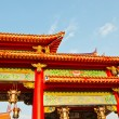 Colorful chinese temple roof  — Stock Photo