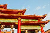多彩中国寺庙屋顶 — 图库照片