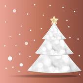 Christmas tree background. — Stock Vector