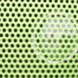 Beautiful close up net texture of green sound speaker  — Stock Photo