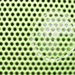 Beautiful close up net texture of green sound speaker — Stock Photo #37023347