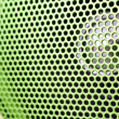 Beautiful close up net texture of green sound speaker — Stock Photo #37023543