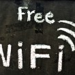 Stock Photo: Free wifi symbol