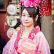 Unidentified woman with chinese traditional dress — Stock Photo