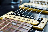 Detail of six-string electric guitar — Stock Photo