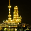 Oil refinery factory at night — Stock Photo #41362003
