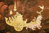 Murals in Wat Phra Kaew,Bangkok,Thailand. — Stock Photo