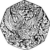 Swan pattern — Stock Vector