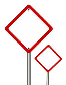Blank   traffic sign  — Stock Photo