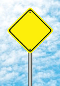 Blank   yellow traffic sign — Stock Photo