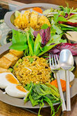 Stir-fried rice with Green curry, Thai organic food — Stock Photo