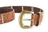 Brown leather belt — Stockfoto