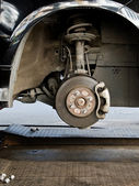 Brake disk and the wheel assembly  — Stock Photo