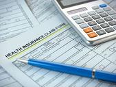 Formulaire de réclamation d'assurance maladie — Photo
