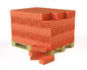 Bricks on Pallet — Stock Photo