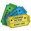 Cinema tickets on white background — Stock Photo