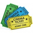 Stock Photo: Cinemtickets on white background