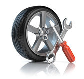 Wheel repair — Stock Photo