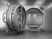 Open Bank Vault Door — Stock Photo