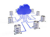 Cloud computing structure — Stok fotoğraf