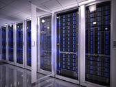 Servers in data center — Stock Photo